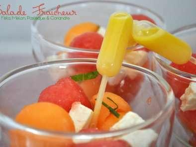 Salade fraicheur f ta melon past que coriandre for Entree fraiche ete