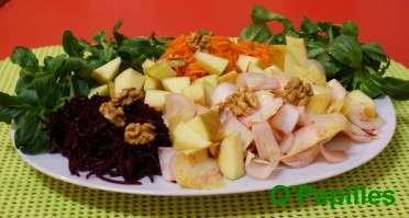 salade m che endives carottes et betteraves recette ptitchef. Black Bedroom Furniture Sets. Home Design Ideas
