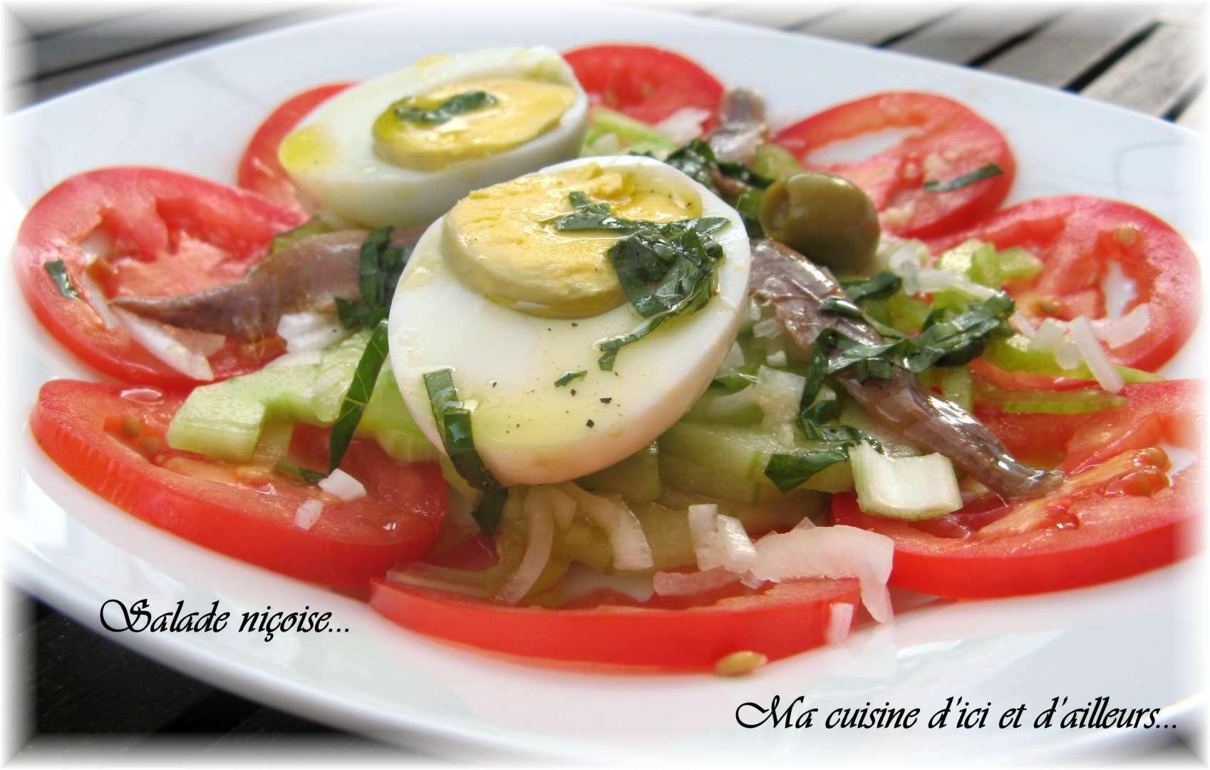 Salade ni oise recette ptitchef for Entree estivale
