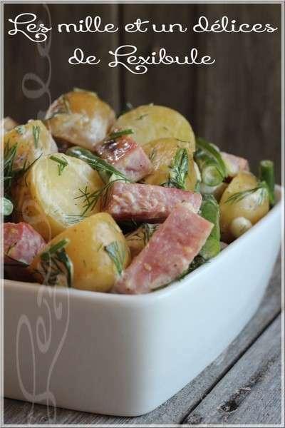 salade repas de pommes de terre grelots de haricots et de jambon recette ptitchef. Black Bedroom Furniture Sets. Home Design Ideas