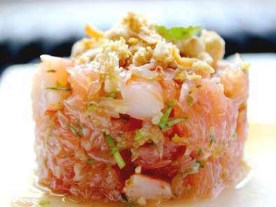 salade tha e de pamplemousse crevettes recette ptitchef. Black Bedroom Furniture Sets. Home Design Ideas