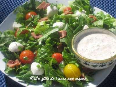 Salade verte au bacon et la tomate recette ptitchef - Accompagnement salade verte ...