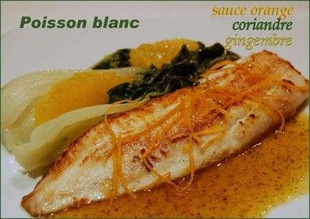 Sauce l 39 orange et la coriandre pour poisson sans for Entree sans poisson