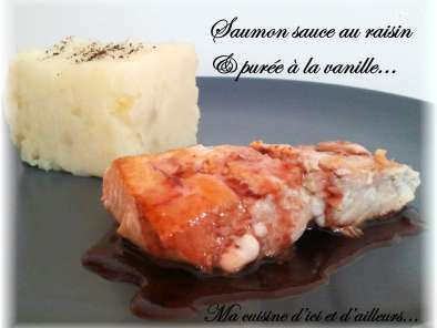 Saumon sauce au raisin...