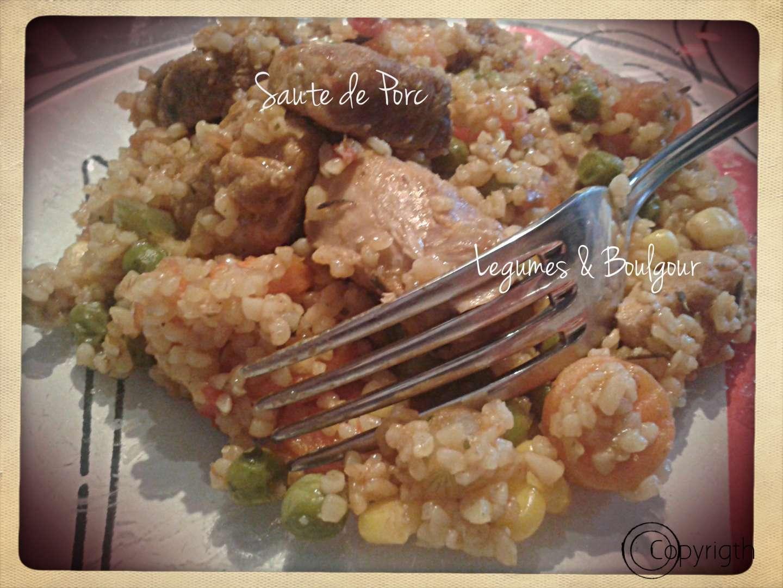 Saut de porc au l gumes et boulgour au cook o recette ptitchef - Recette de noel au cookeo ...