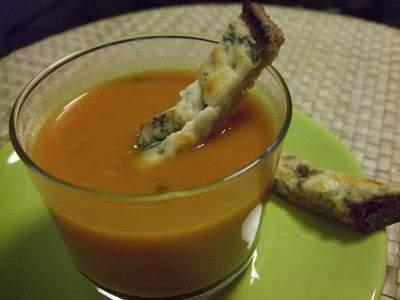 soupe au c leri rave et la tomate recette ptitchef. Black Bedroom Furniture Sets. Home Design Ideas