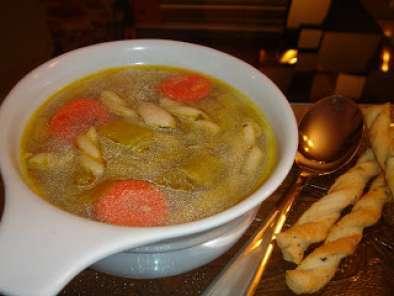 Soupe au poulet et l gumes maison recette ptitchef - Soupe de legume maison ...