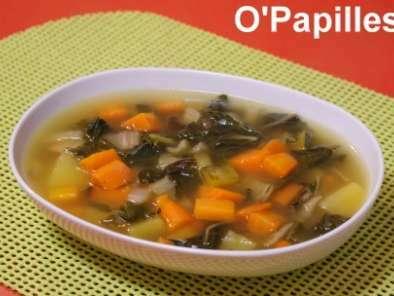 soupe aux blettes potiron carottes et pommes de terre recette ptitchef. Black Bedroom Furniture Sets. Home Design Ideas