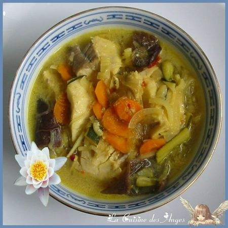 Soupe de poisson au curry et lait de coco recette ptitchef - Soupe potiron lait de coco curry ...