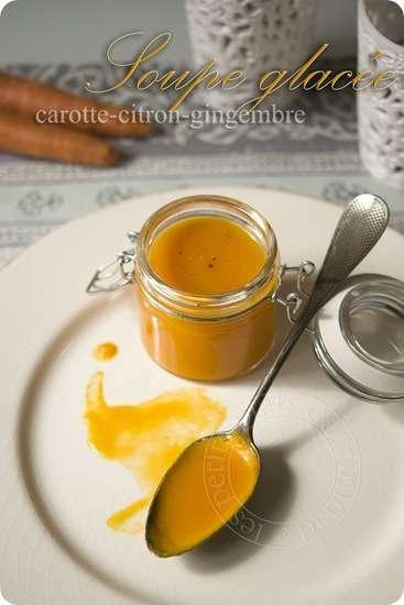 soupe glac e carotte citron gingembre recette ptitchef. Black Bedroom Furniture Sets. Home Design Ideas