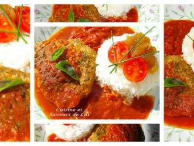 Steak De Thon Rouge Au Coulis De Tomate Et Chutney Aux Pommes