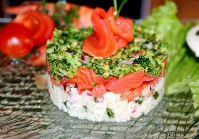 Taboule de chou-fleur au saumon fume, Recette Ptitchef