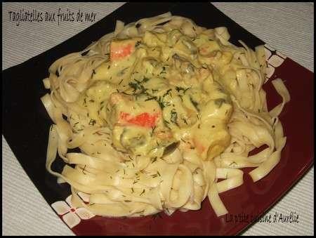 Tagliatelles aux fruits de mer la sauce safran e recette ptitchef - Tagliatelles aux fruits de mer recette italienne ...