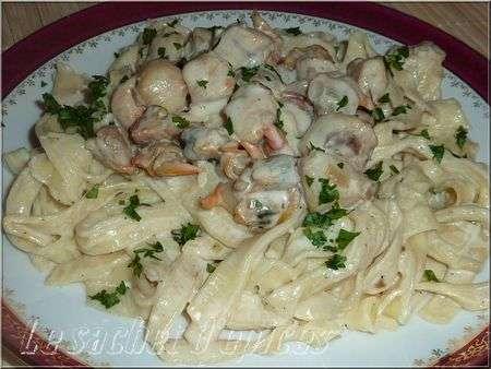 Tagliatelles maison aux noix de p toncles et aux coques recette ptitchef - Tagliatelles aux fruits de mer recette italienne ...