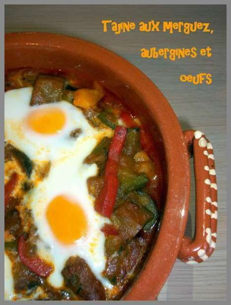 tajine aux merguez aubergines et oeufs recette ptitchef. Black Bedroom Furniture Sets. Home Design Ideas