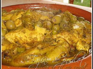 Tajine de poulet au citron confit et olives, Photo 2