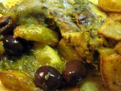 Tajine de poulet aux olives et citrons confits, Photo 2