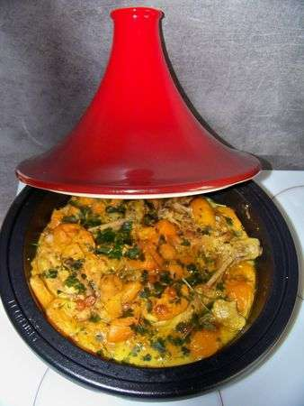 tajine de poulet pic au abricot a ma fa on recette ptitchef. Black Bedroom Furniture Sets. Home Design Ideas