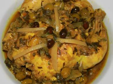 Tajine poulet, olives et citron confit, Photo 2