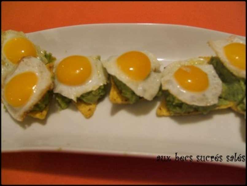 Tapas guacamole et oeuf de caille, Recette Ptitchef
