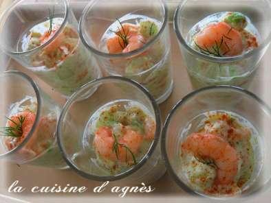 Tartare de concombre avocat et crevettes en verrines for Entrees legeres et originales