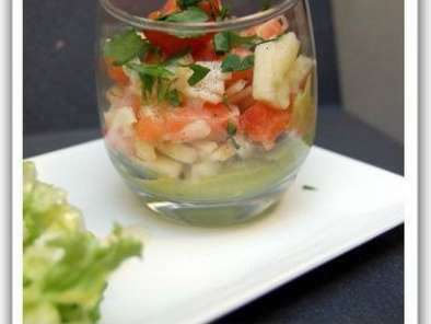 Tartare de saumon cru, avocat & Granny Smith