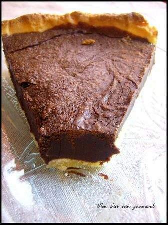 tarte la mousse au chocolat cuite inspir e de c felder recette ptitchef. Black Bedroom Furniture Sets. Home Design Ideas
