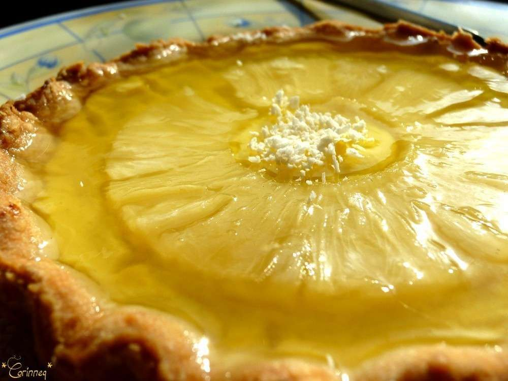 tarte ananas noix de coco en p 226 te bris 233 e coco recette ptitchef