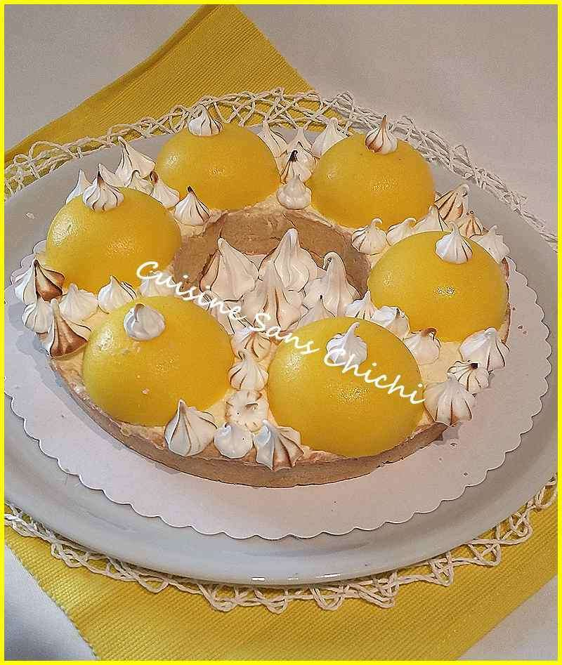 Tarte au citron revisit e meringu e recette ptitchef - Recette tarte citron meringuee ...