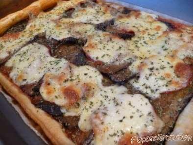 Tarte aux aubergines grillees chorizo mozzarella recette ptitchef - Recette aubergine grillee ...