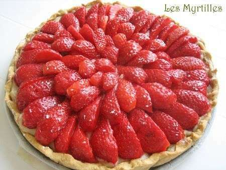 tarte aux fraises sur creme p tissiere vegan recette ptitchef. Black Bedroom Furniture Sets. Home Design Ideas