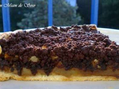 tarte aux pommes speculoos crumble chocolat recette ptitchef. Black Bedroom Furniture Sets. Home Design Ideas