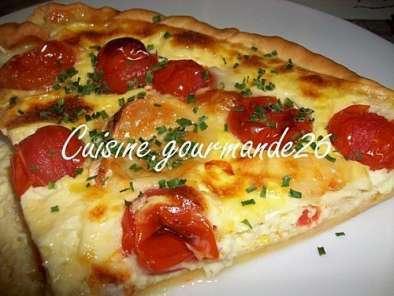 Tarte Aux Tomates Cerises Et Buche De Chevre Recette Ptitchef