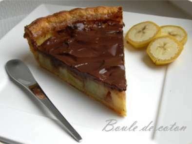 tarte banane chocolat recette ptitchef. Black Bedroom Furniture Sets. Home Design Ideas