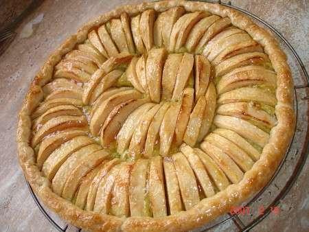 tarte feuillet e aux pommes la frangipane aux pistaches recette ptitchef. Black Bedroom Furniture Sets. Home Design Ideas
