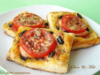 tarte feuillet e avec tomates saucisse et olives recette ptitchef. Black Bedroom Furniture Sets. Home Design Ideas