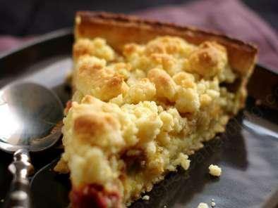 tarte pommes rhubarbe noix