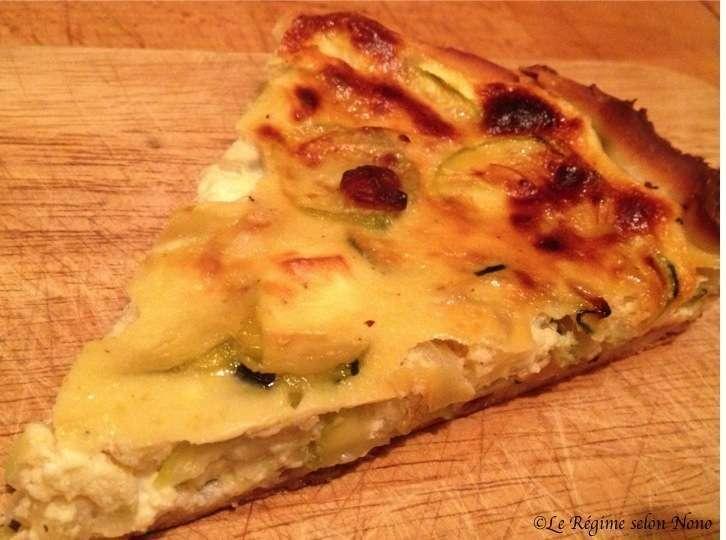 Tarte sal e au miel et courgettes recette ptitchef - Idee recette tarte salee ...