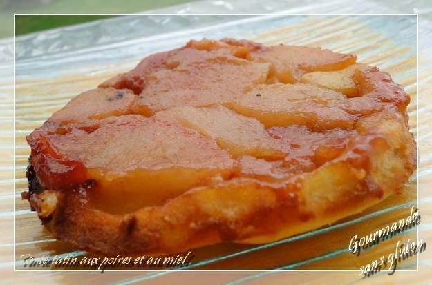 tarte tatin aux poires et au miel sans gluten recette ptitchef