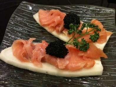 tartines de radis noir au saumon fum dukan pl recette ptitchef. Black Bedroom Furniture Sets. Home Design Ideas