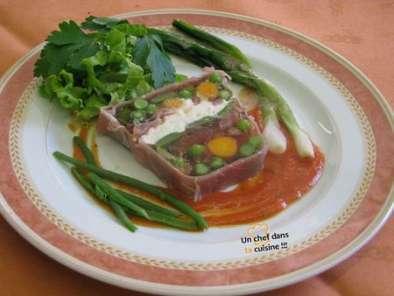 Terrine de l gumes au jambon cru recette ptitchef - Terrine de legumes facile et rapide ...