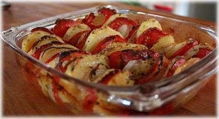 tian du soleil tomate pomme de terre oignon recette ptitchef. Black Bedroom Furniture Sets. Home Design Ideas