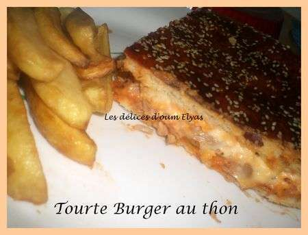 tourte burger au thon recette ptitchef. Black Bedroom Furniture Sets. Home Design Ideas
