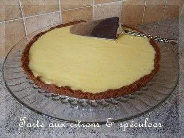 Tuerie de tarte aux citrons sur fond de sp culos hyper rapide recette ptitchef - Recette fond de tarte ...