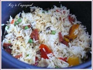 un riz l 39 espagnol dans le rice cooker recette ptitchef. Black Bedroom Furniture Sets. Home Design Ideas