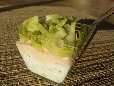 verrine de saumon fum au fromage frais recette ptitchef. Black Bedroom Furniture Sets. Home Design Ideas
