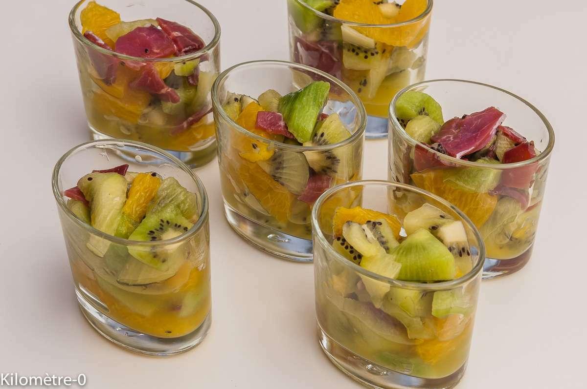 Verrine Kiwis Oranges Et Magret De Canard Recette Ptitchef