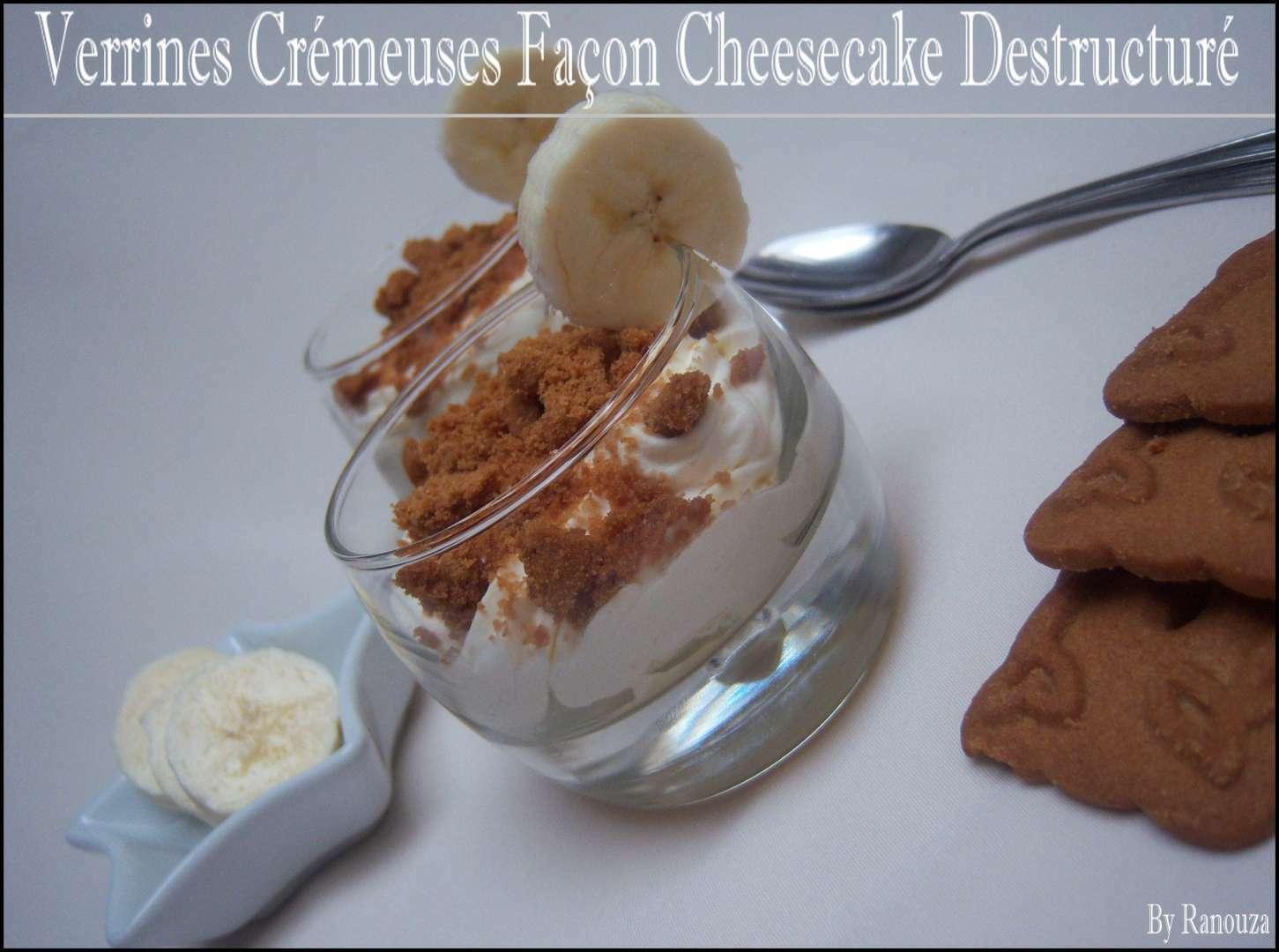 Verrines crémeuses à la banane façon cheesecake ...