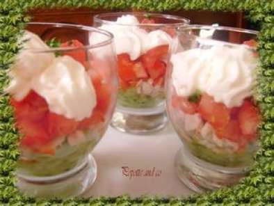 verrines tomate concombre surimi recette ptitchef. Black Bedroom Furniture Sets. Home Design Ideas
