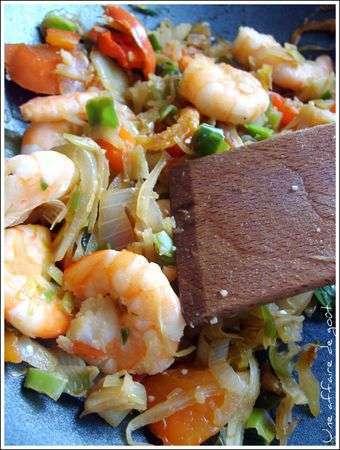 recette asiatique wok crevette un site culinaire populaire avec des recettes utiles. Black Bedroom Furniture Sets. Home Design Ideas